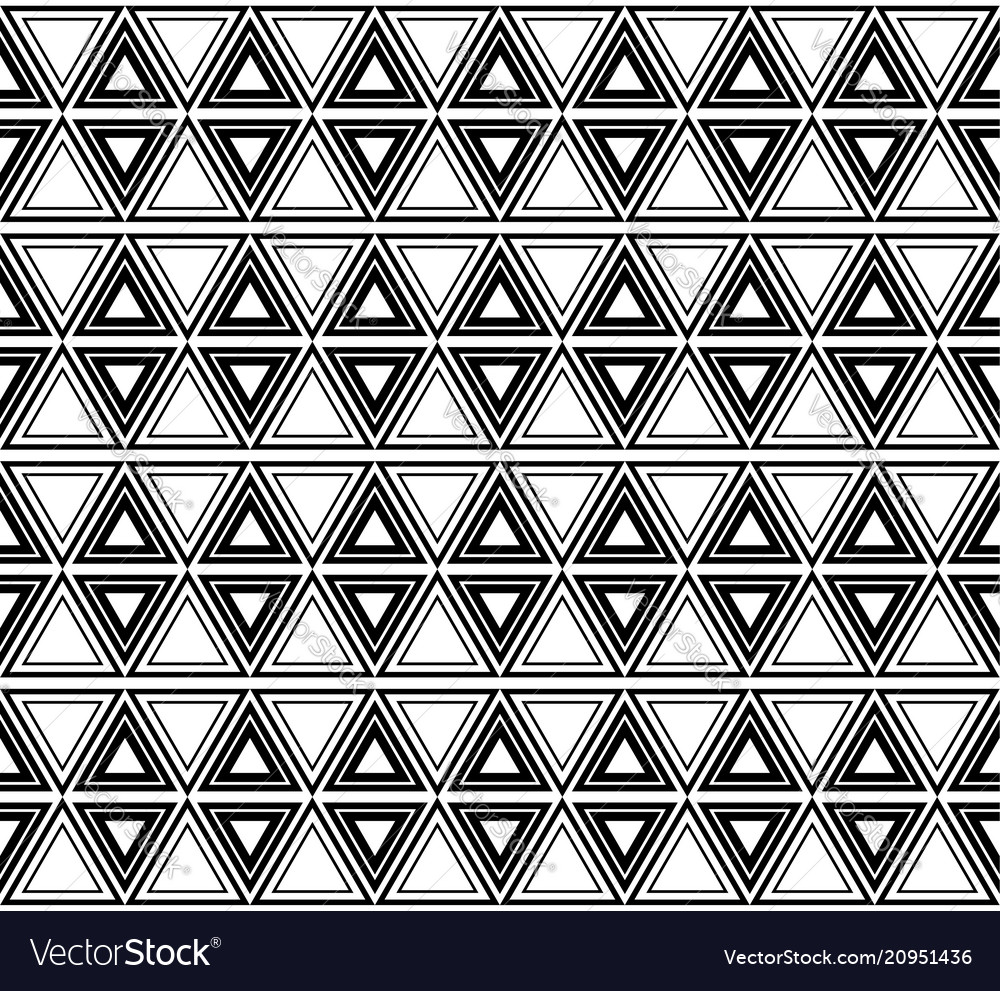 Seamless black and white ethnic pattern with