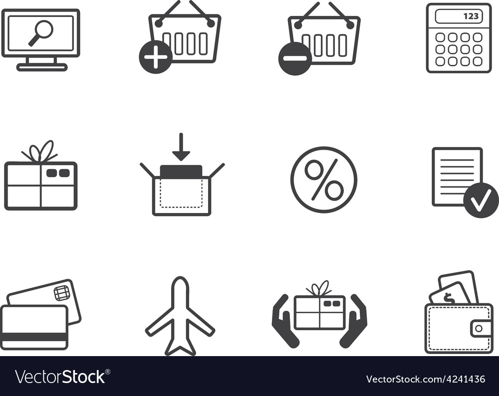 Set of shopping vector image