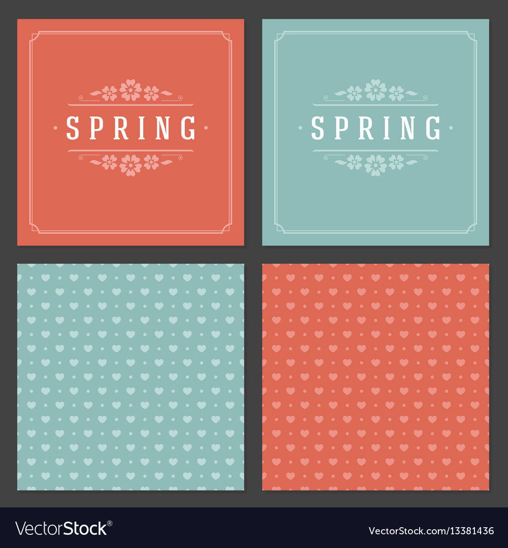 Spring typographic posters or greeting