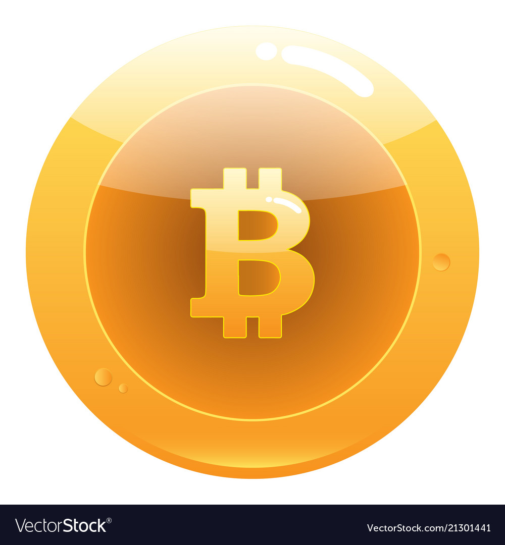 Bitcoin flat icon crypto currency bit coin