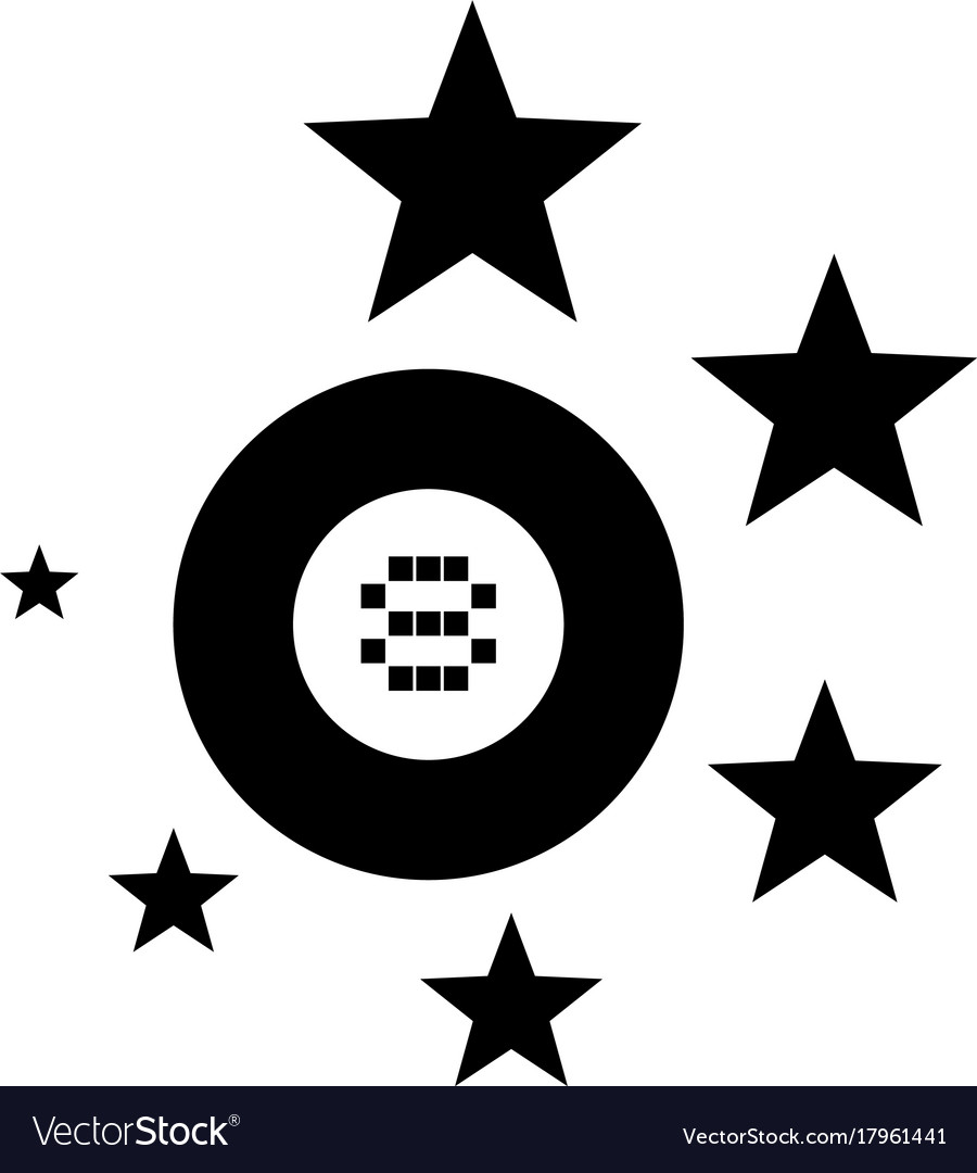 Black billiards ball symbol vector image