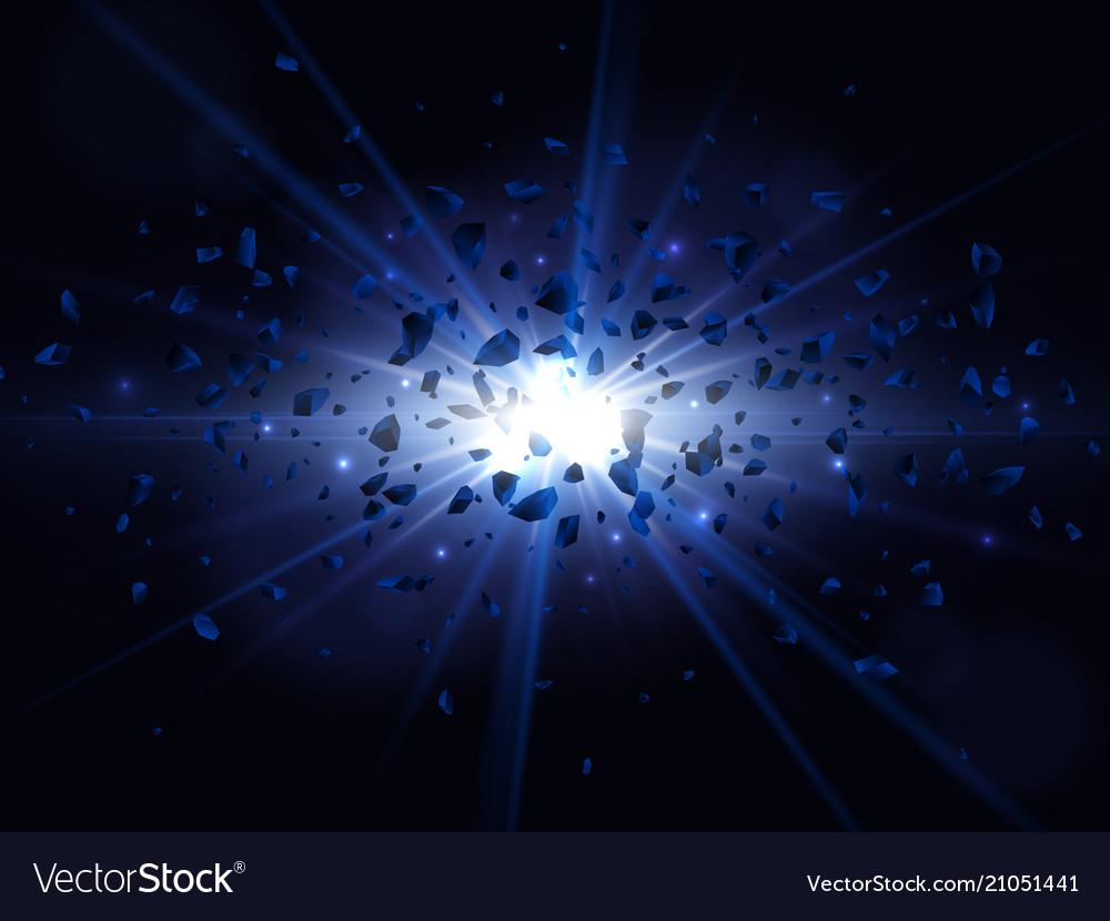 Blue big explosion