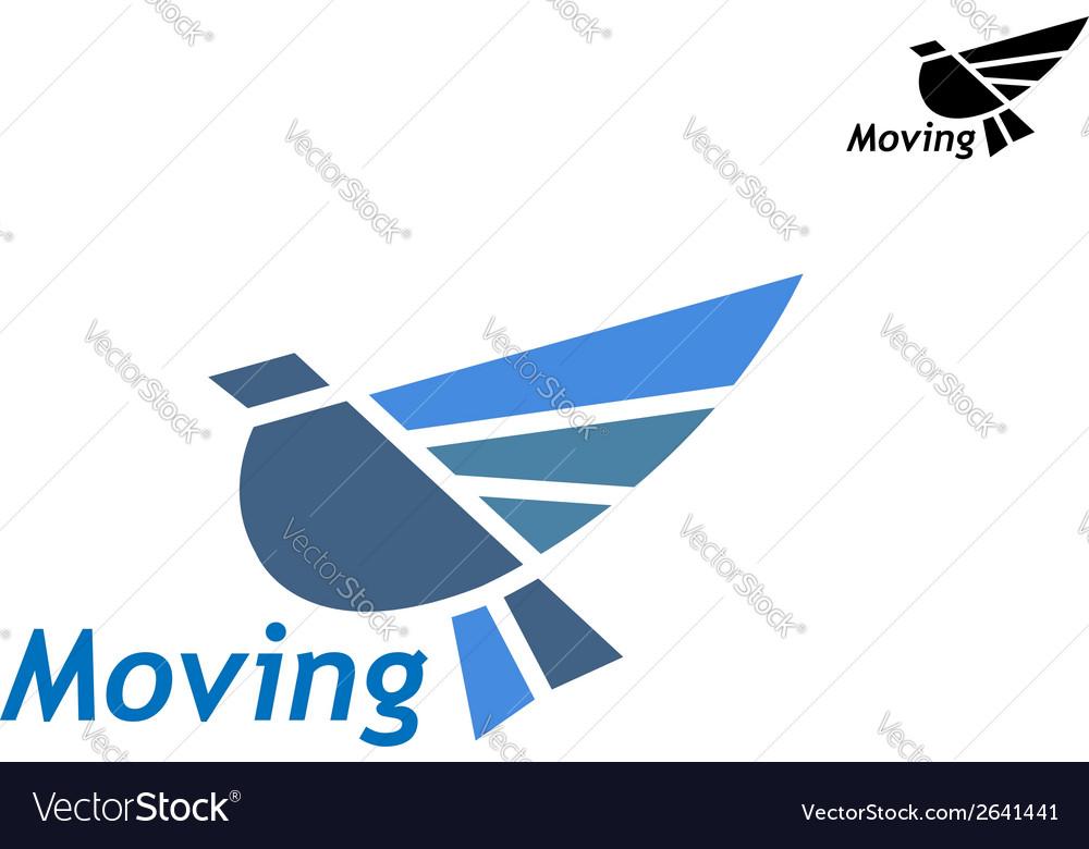 Blue pigeon icon