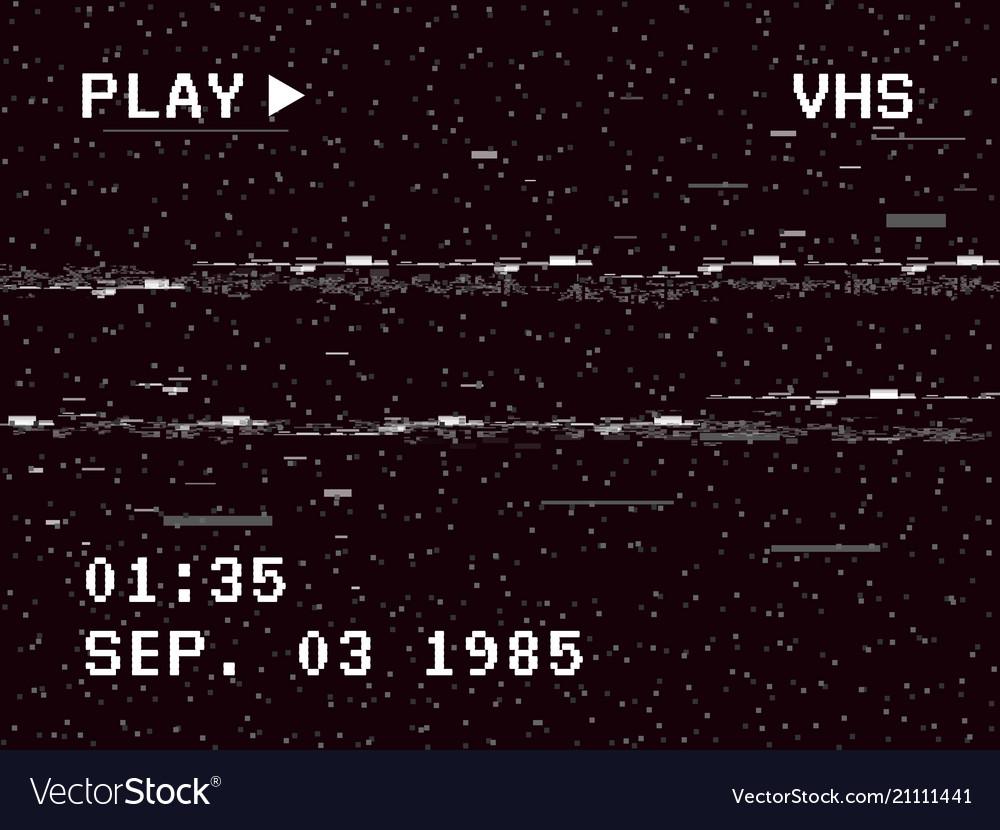 Glitch camera effect retro vhs background old