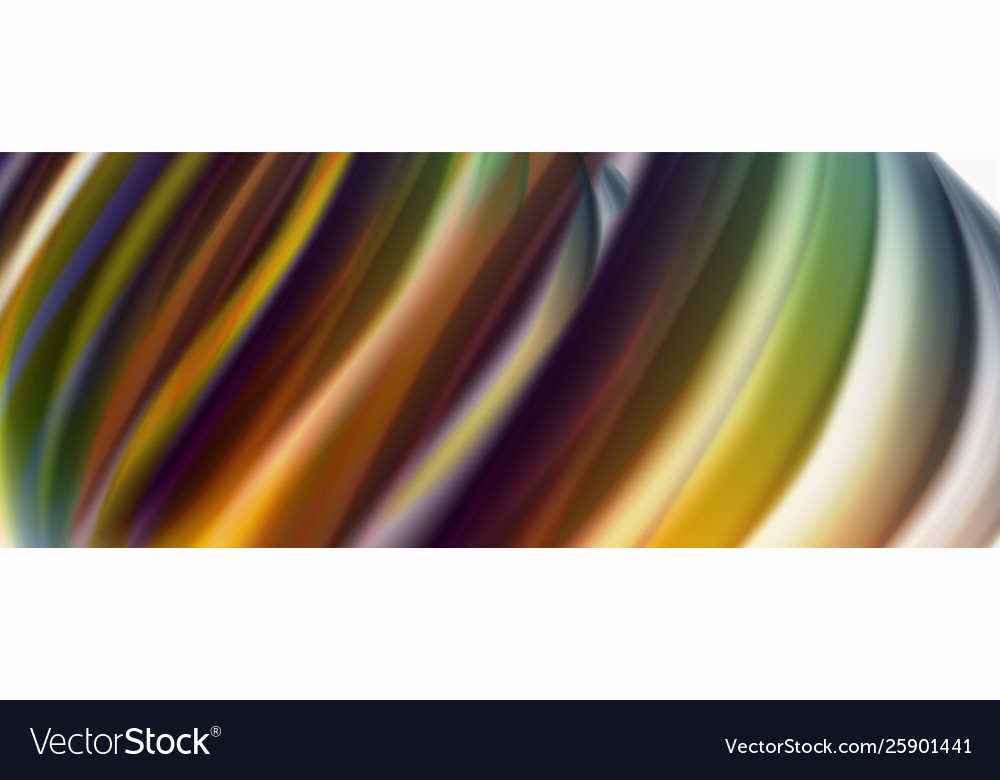Modern liquid color flow on white - colorful flow