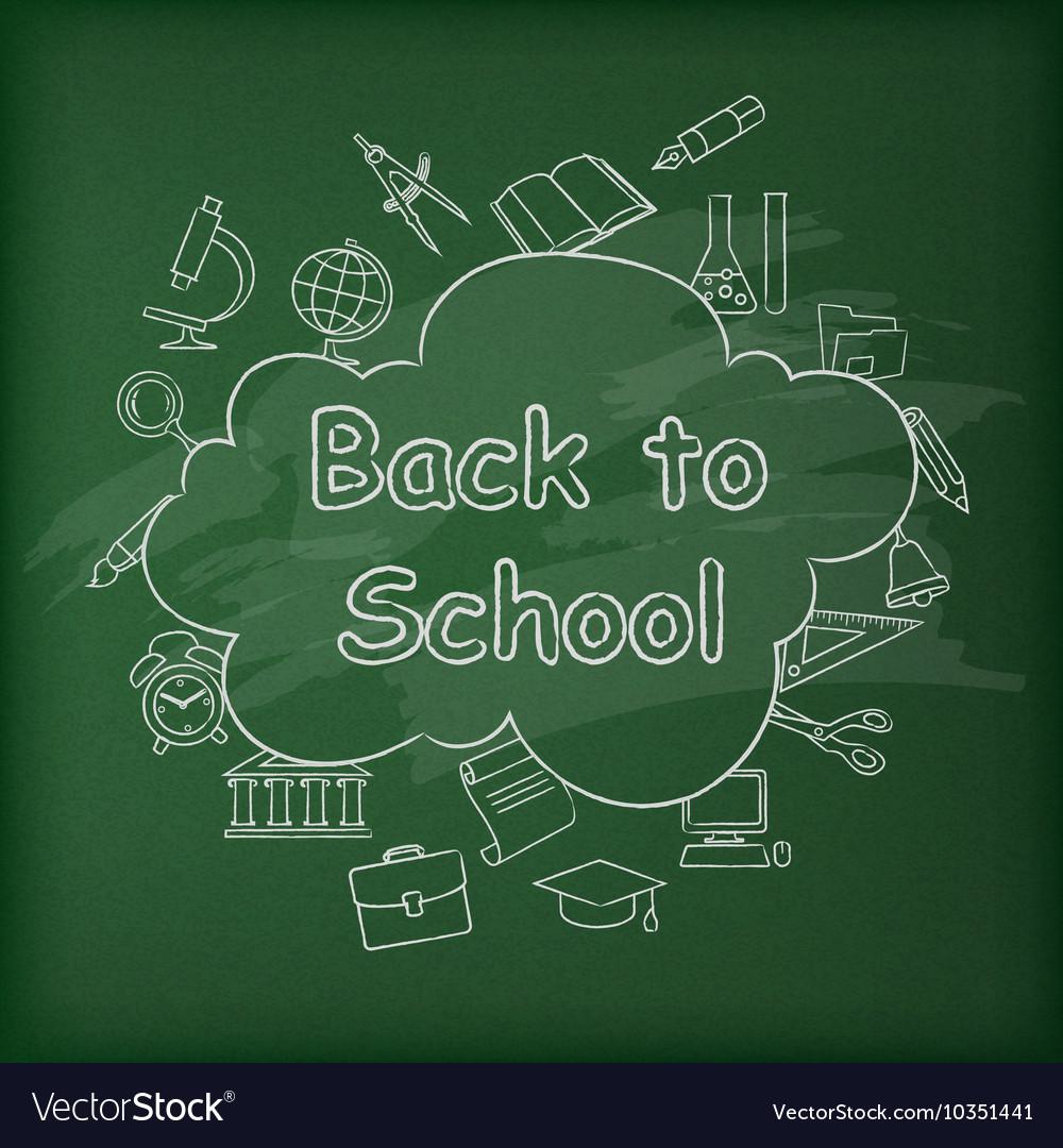 School blackboard Green vector image