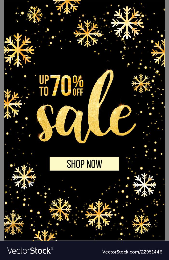 Banner sale modern web banner with golden