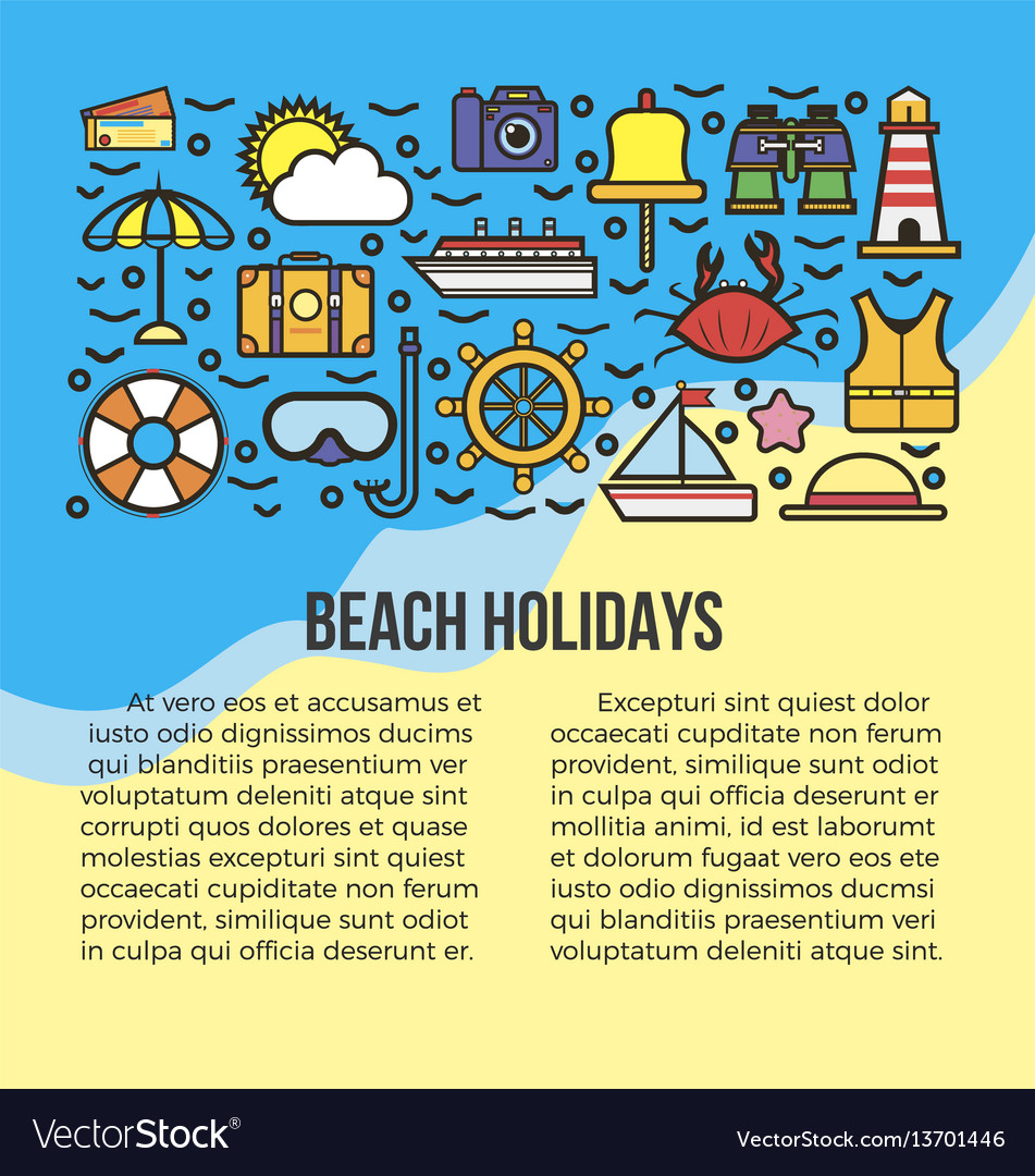 Beach holidays information list