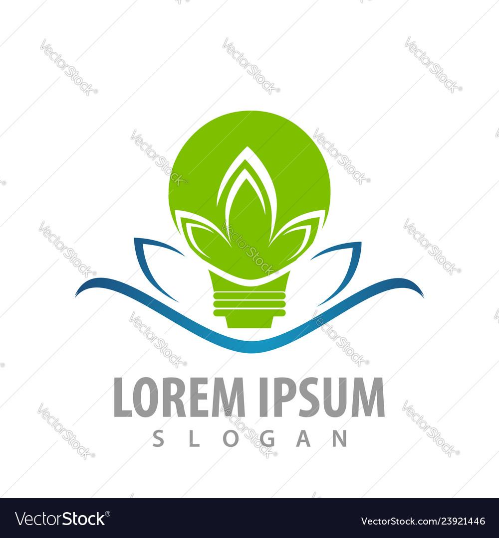 Bulb lotus logo concept design symbol graphic