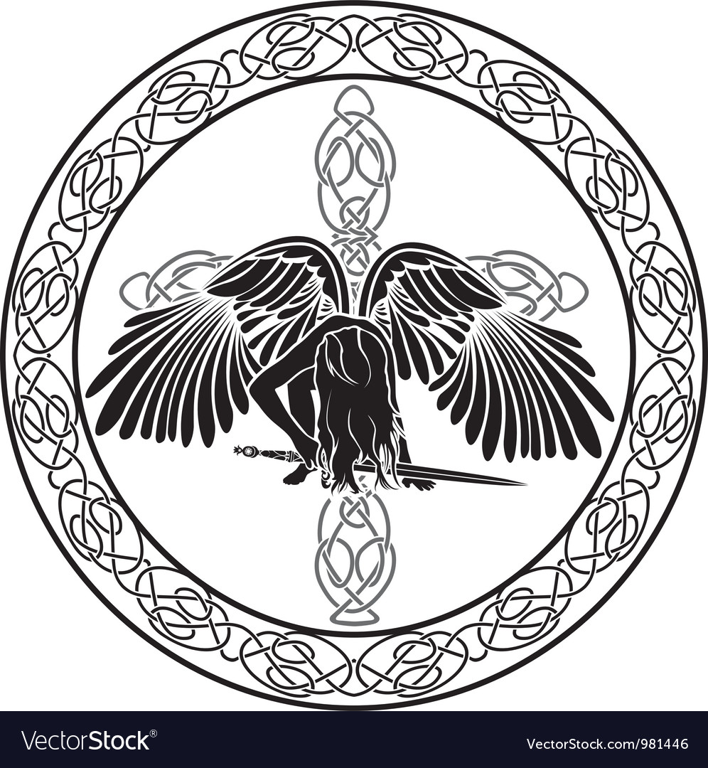 Celtic angel vector image