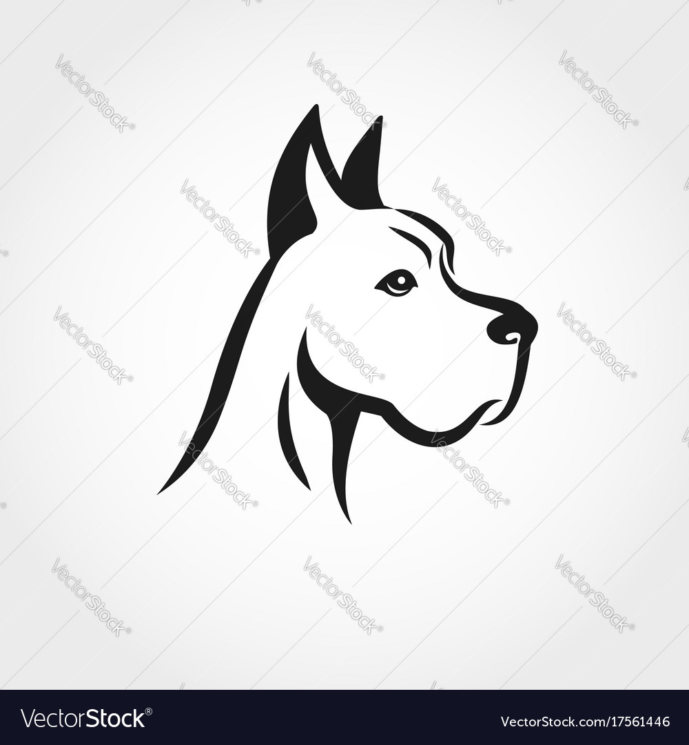 Dog head line drawing can be used as logo