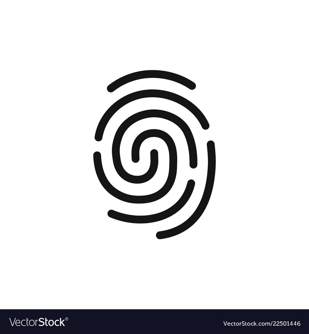 Fingerprint simple black icon authentication