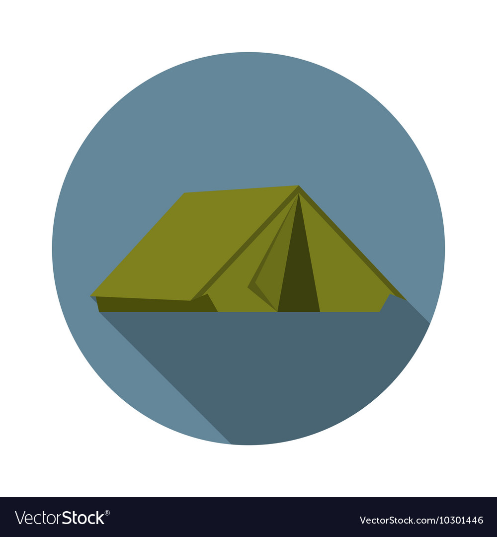 Flat design modern of tent icon camping and hiking