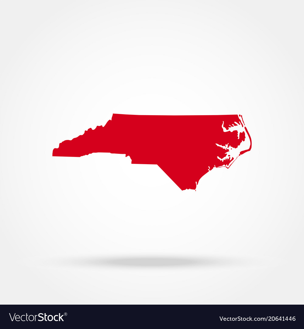 Map of the us state of north carolina