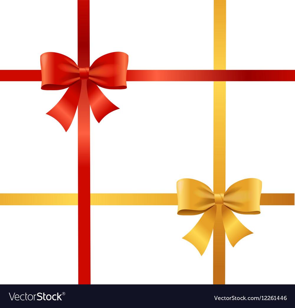 Present Satin Ribbon and Bow vector image