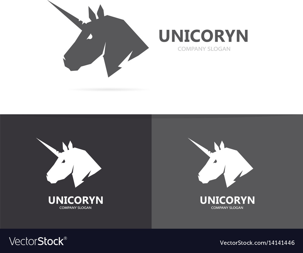Unicorn or horse logo template