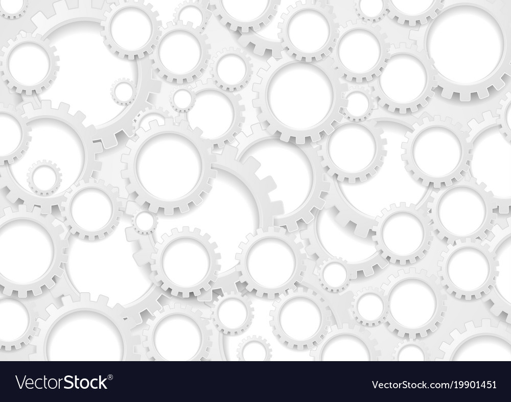 Abstract grey paper gears technology background