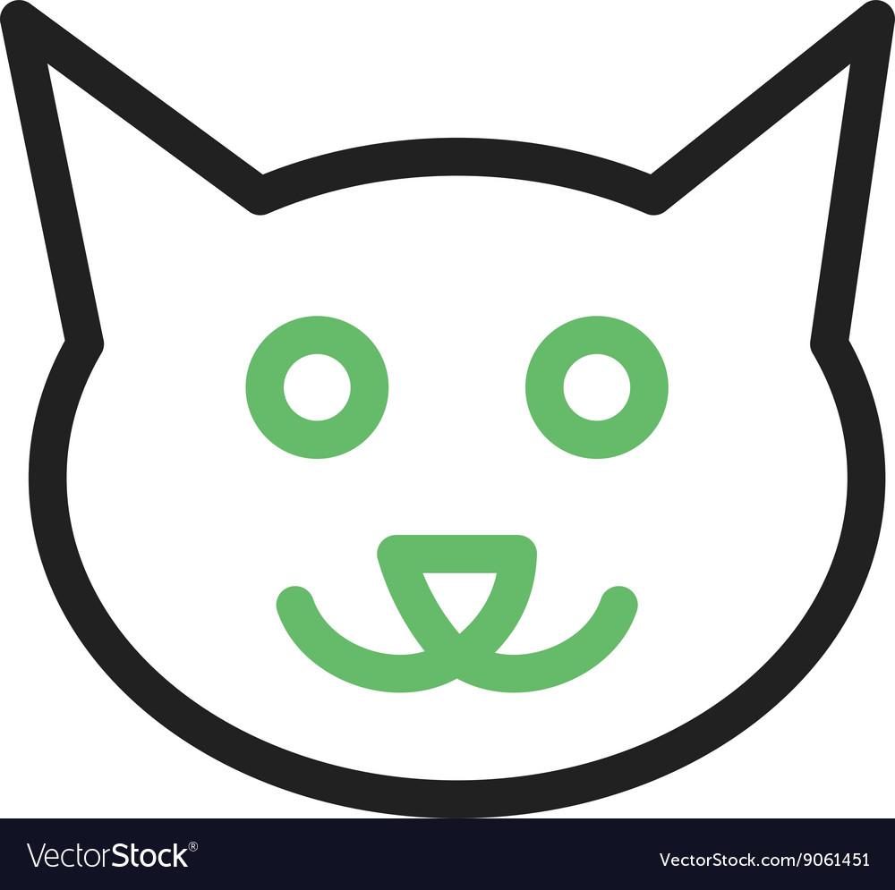 Cat Face Royalty Free Vector Image Vectorstock