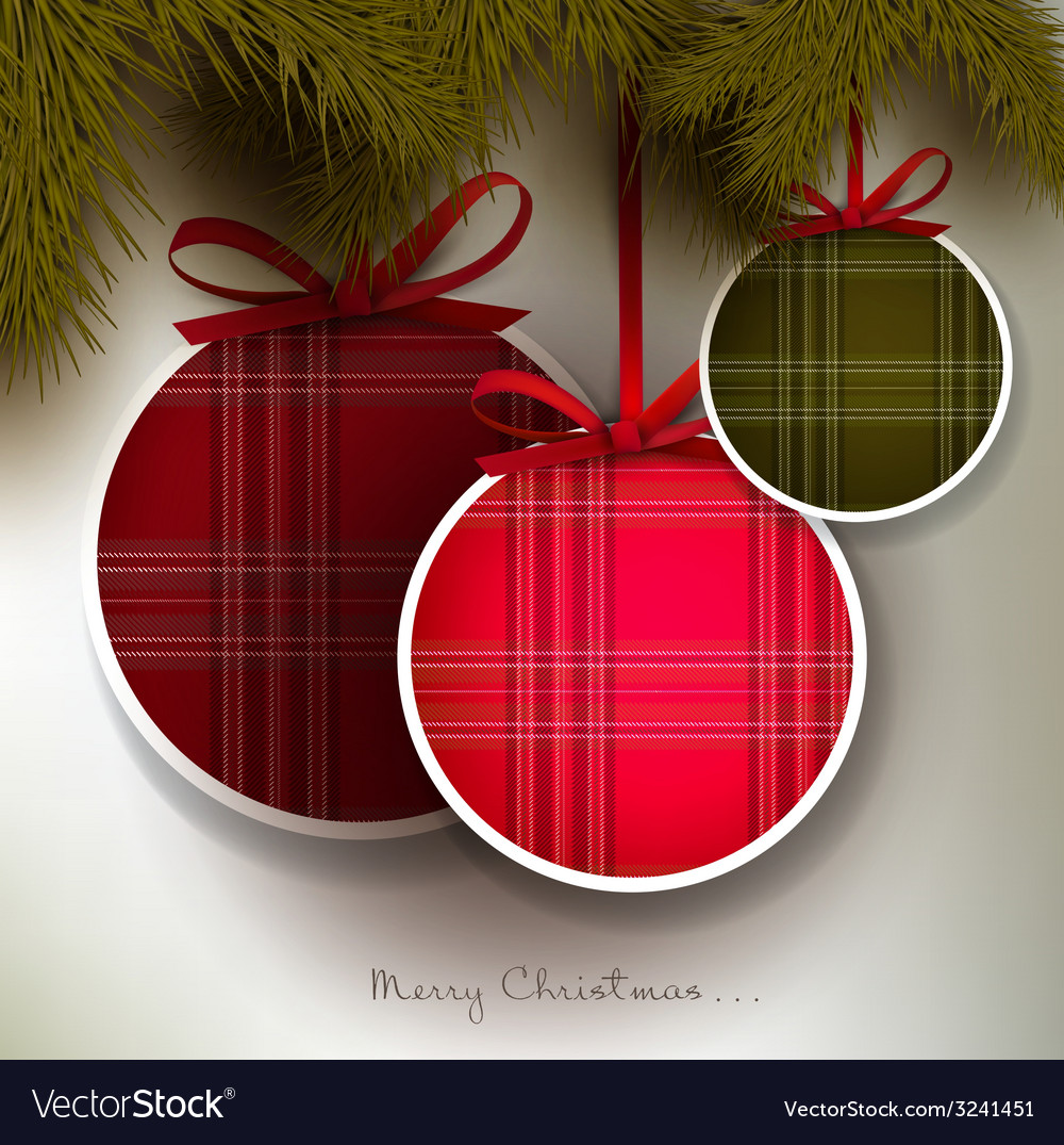 Christmas background with colorful textured balls