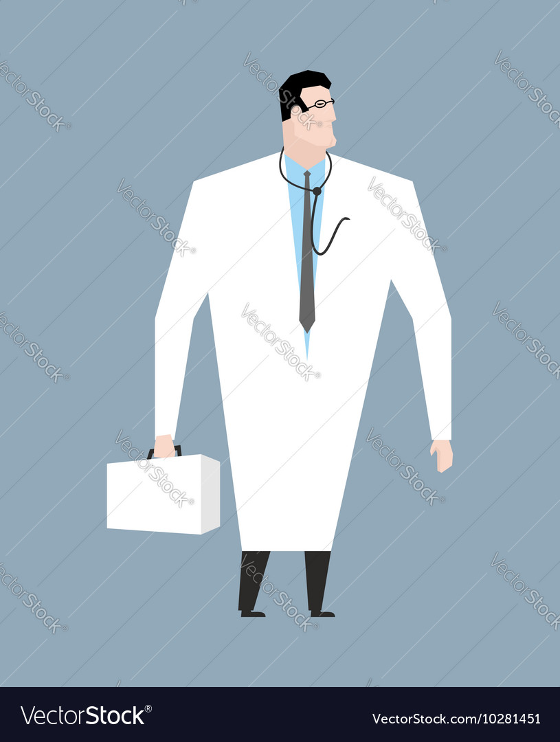 Doctor in white coat Doc with stethoscope Medical