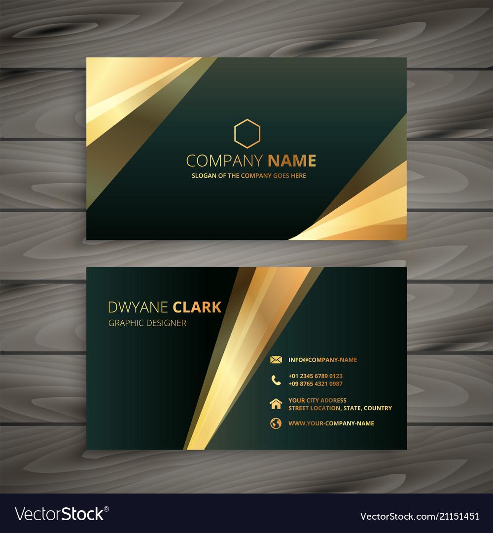 Elegant premium golden business card template vector image flashek Image collections
