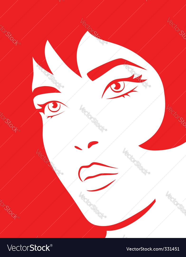 Female background vector image