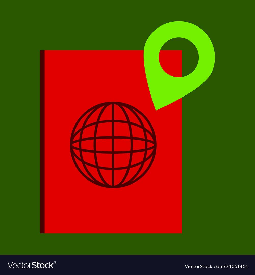 International passport template with gps location vector image on  VectorStock