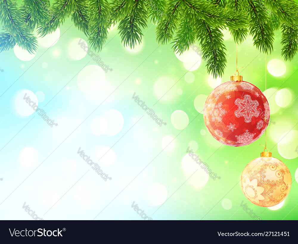 Light blue and green blurred bokeh background with