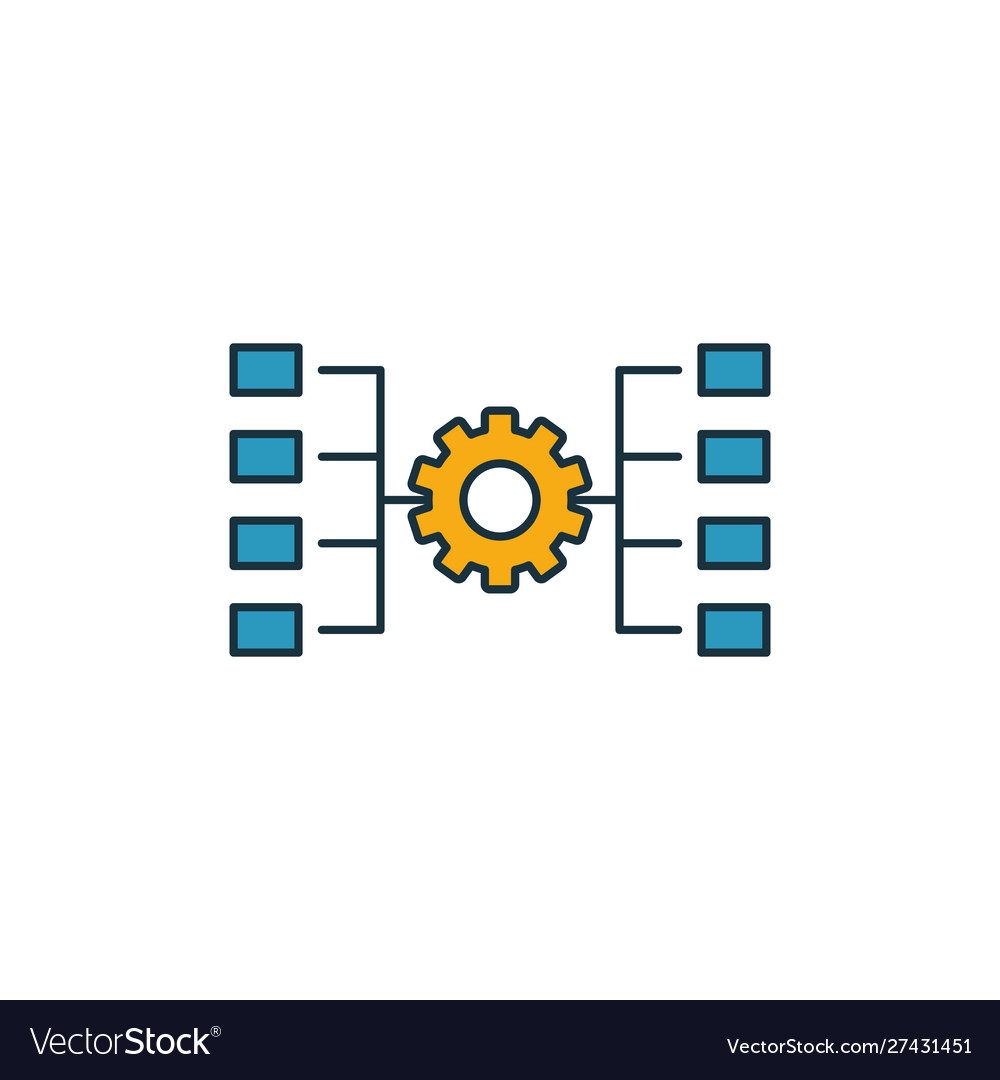 Network workflow icon outline filled creative