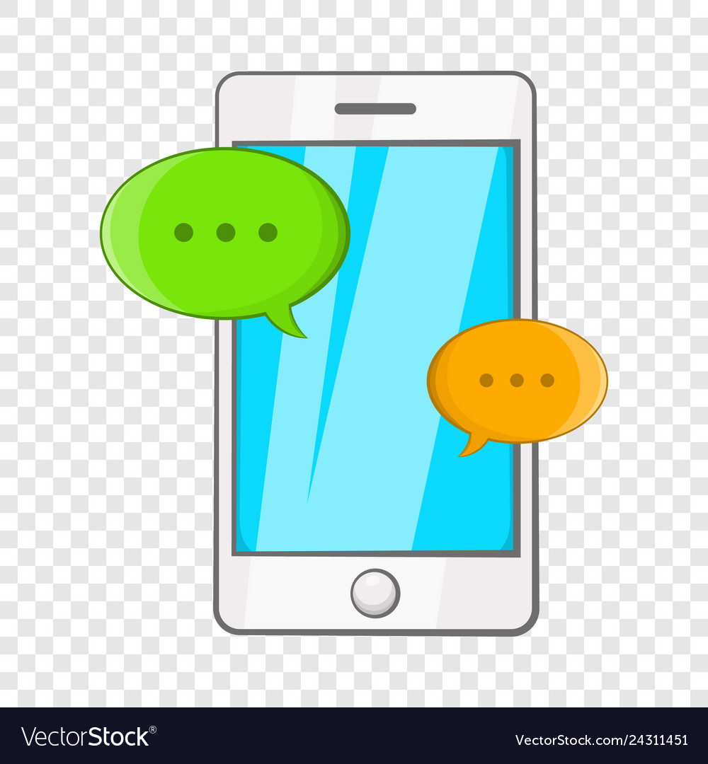 Phone Messages Icon Cartoon Style Royalty Free Vector Image