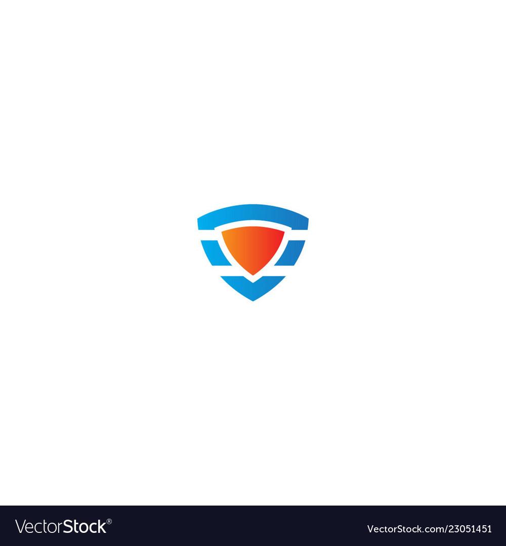 Shield protect design logo