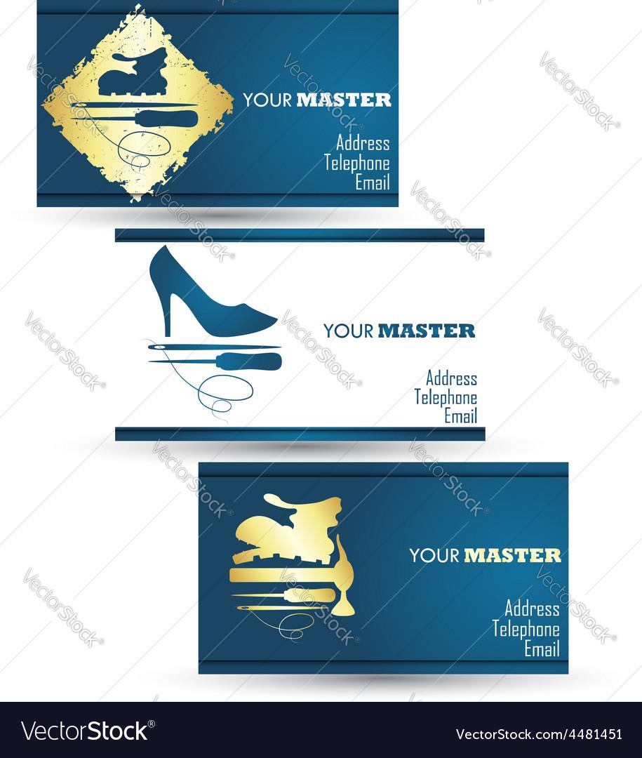 Shoe Repair Business Card Master Vector Image
