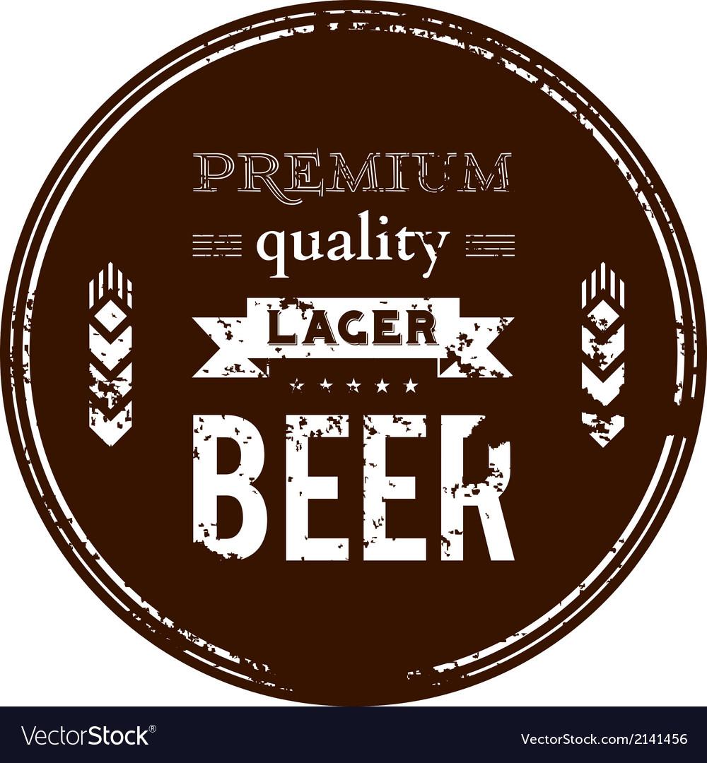 Beer coaster vector image