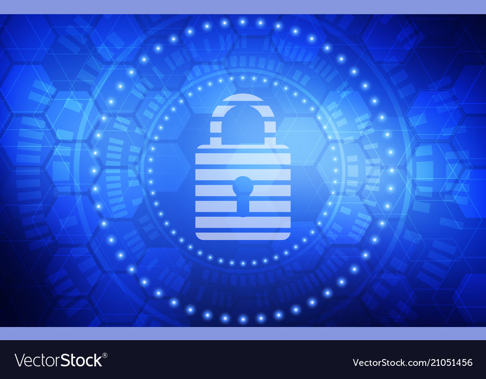 Cyber protection concept abstract background