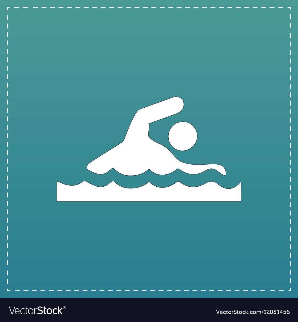Swimming flat icon vector image