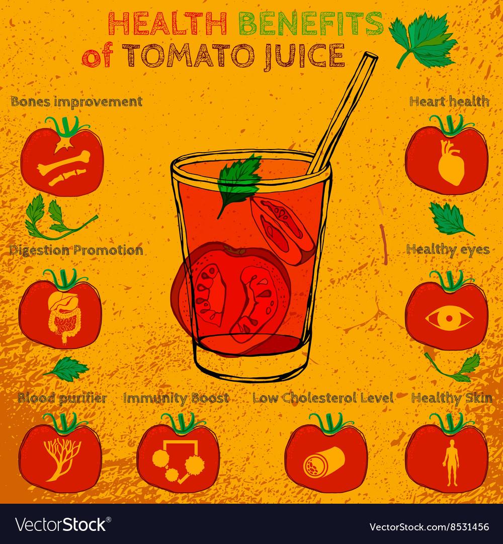 Tomato juice benefits Royalty Free