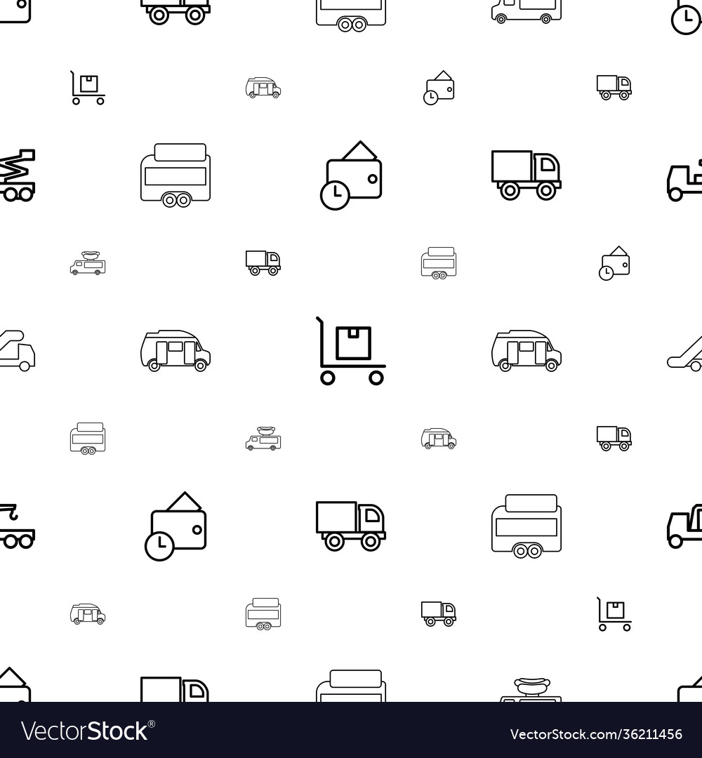 Truck icons pattern seamless white background
