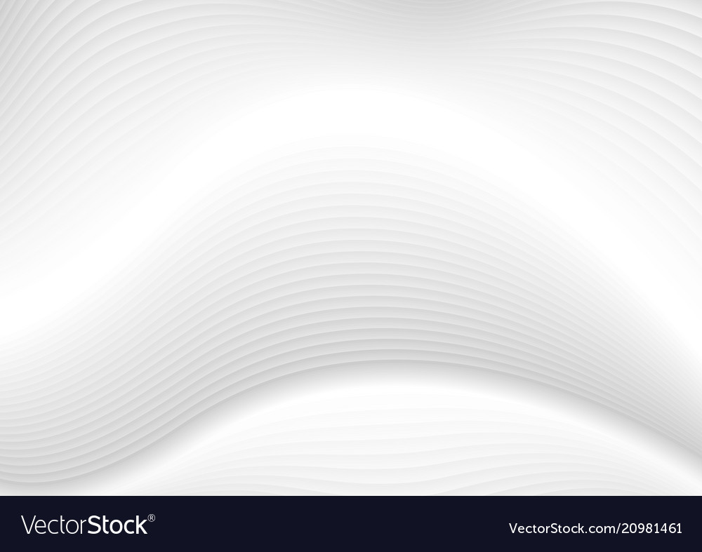 Abstract white grey waves and lines pattern vector image