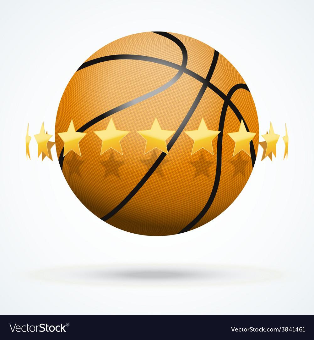 Basketball ball with golden