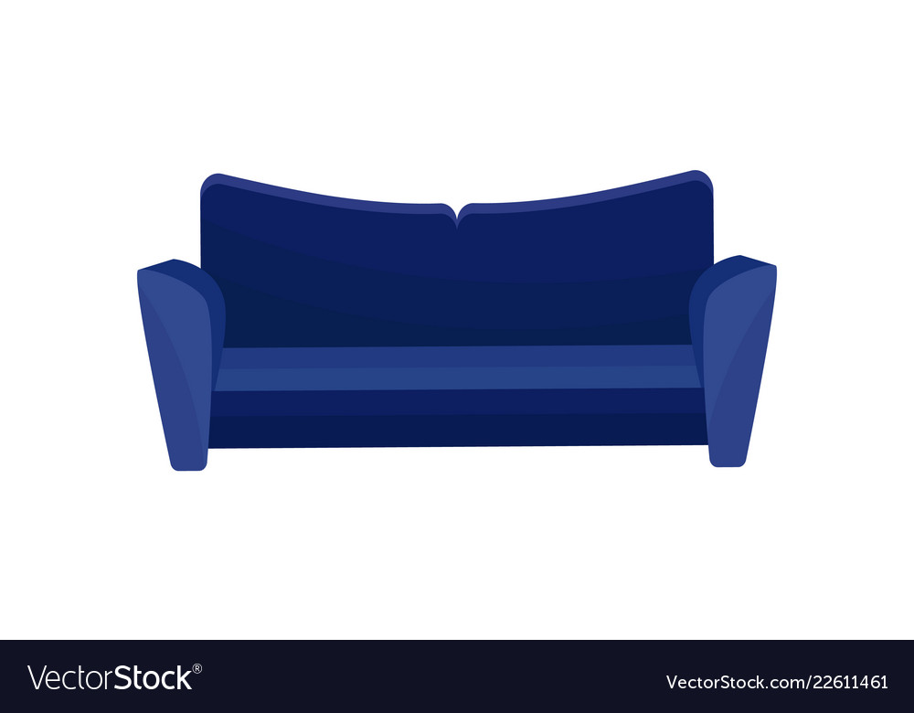 Comfortable sofa blue modern couch living room