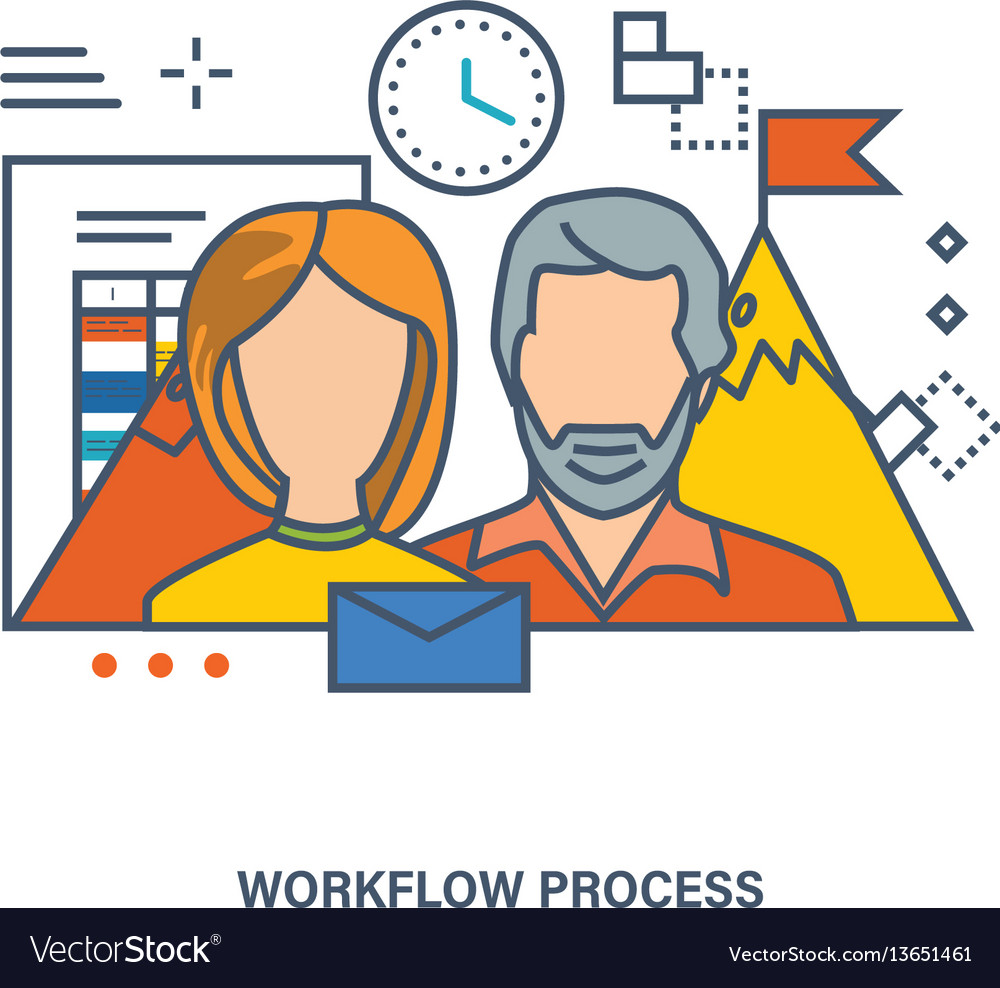 Concept of workflow process and teamwork