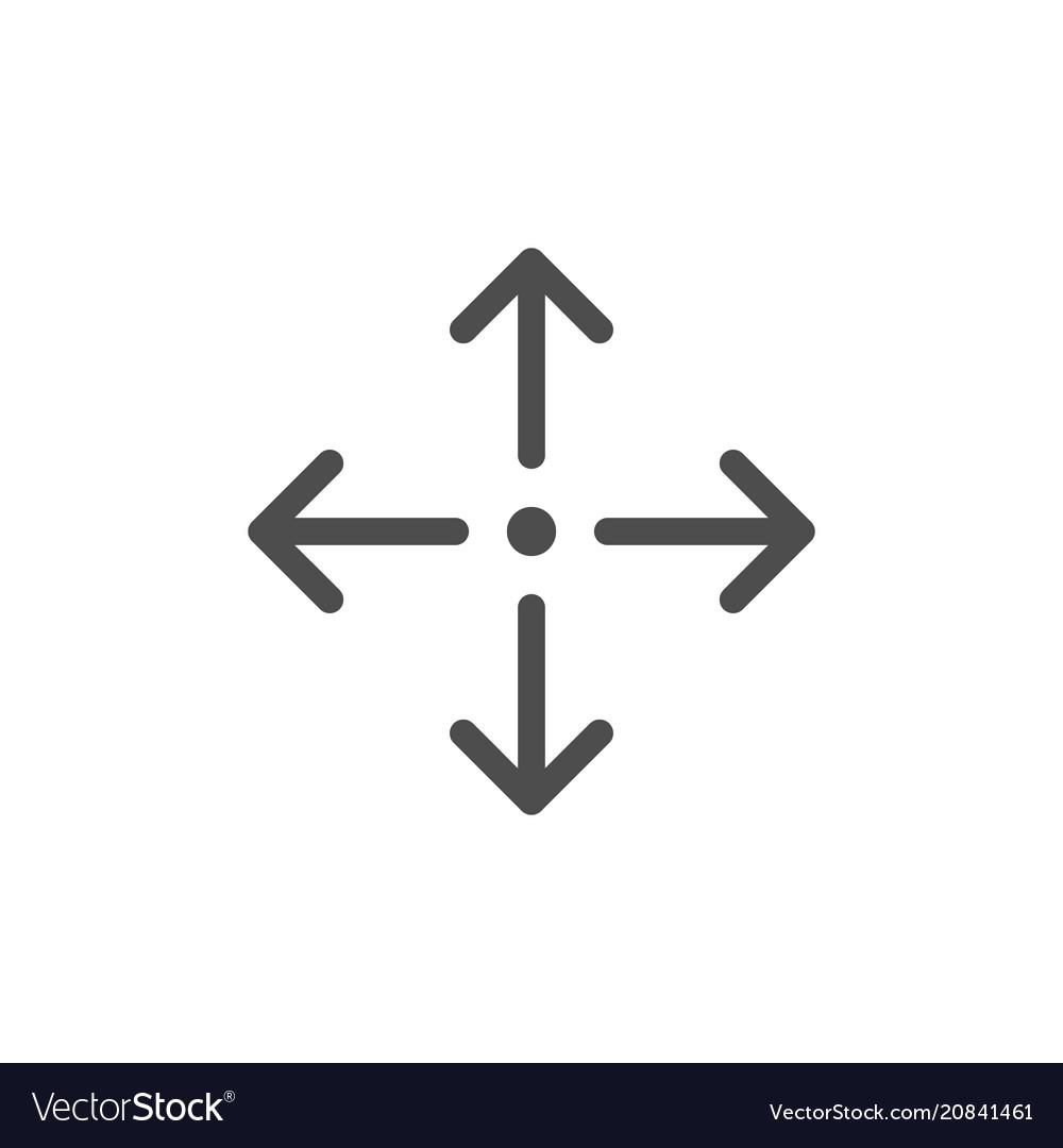 Direction arrows line icon