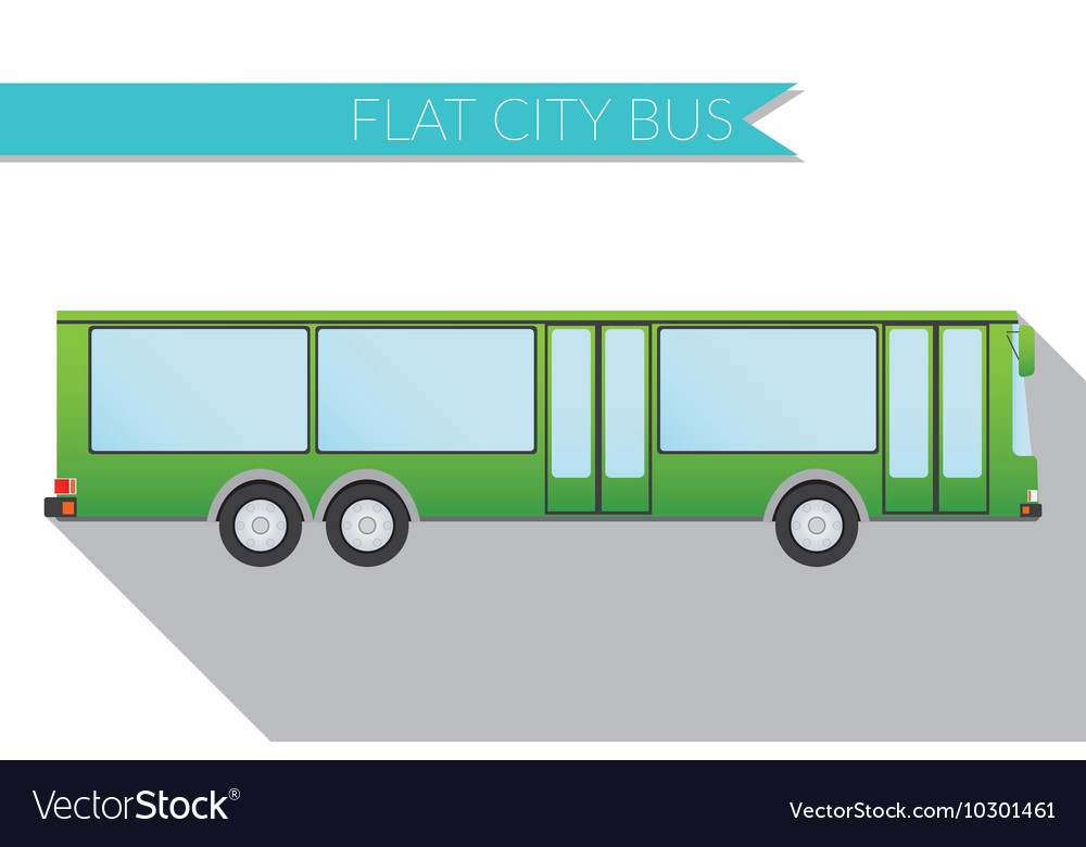 Flat design city Transportation city bus side view