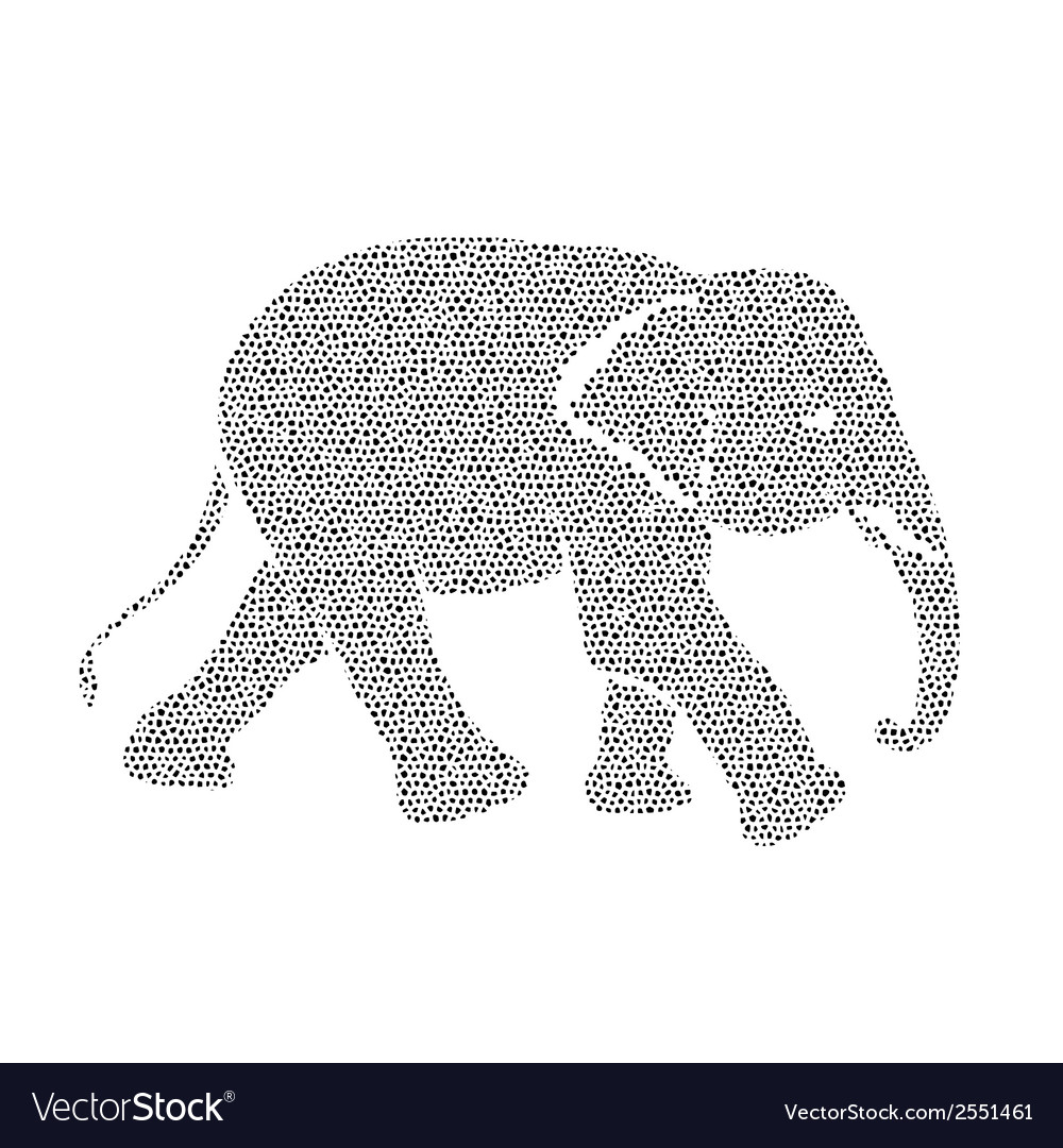 Image of an elephant design Royalty Free Vector Image