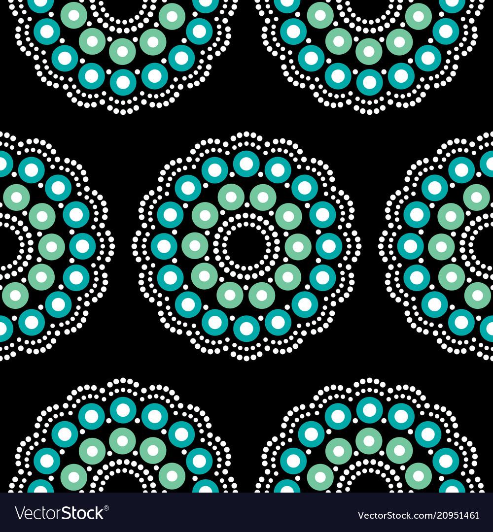 Mandala bohemian dot painting pattern