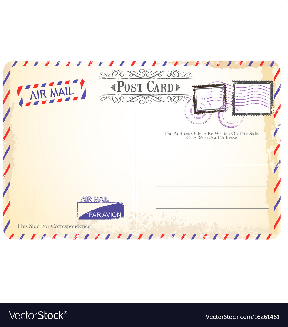 Postcard in air mail style