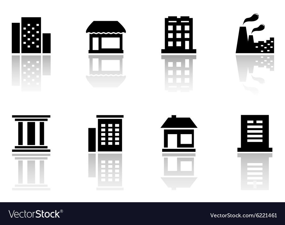 Set houses icons