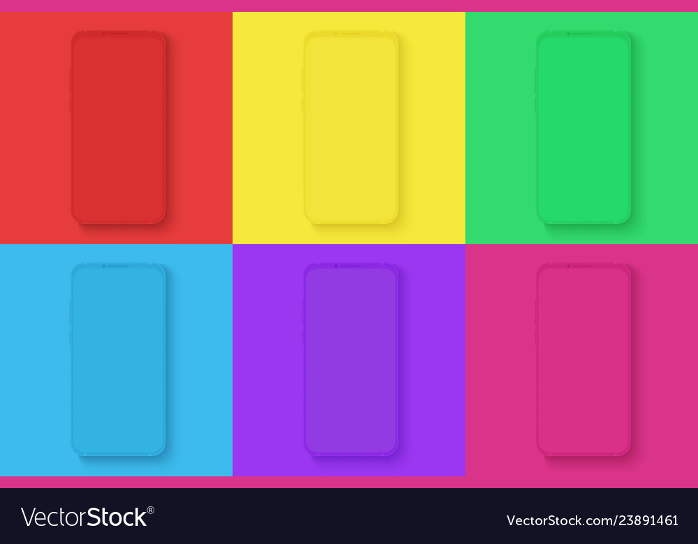 Smartphone icons set on the different bright
