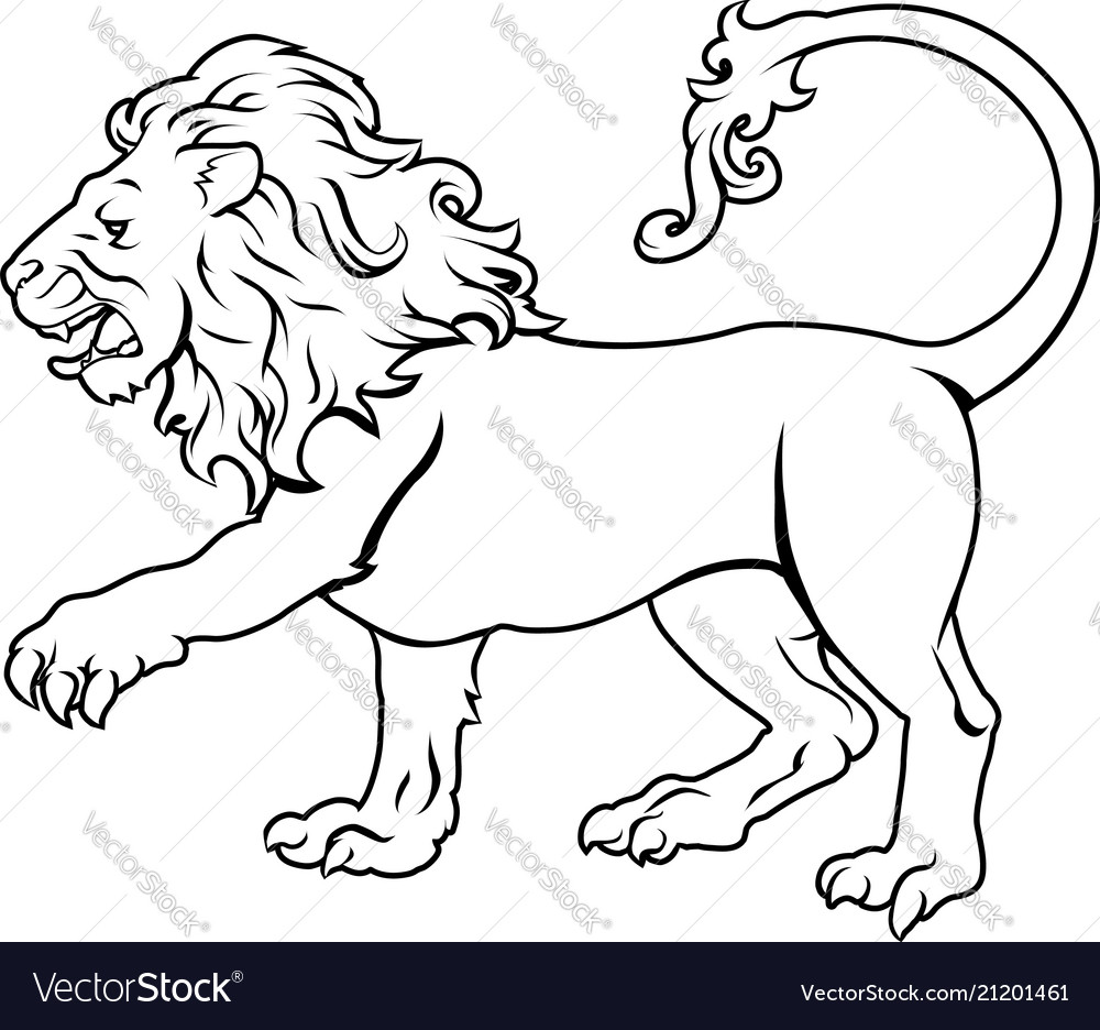 Stylised lion