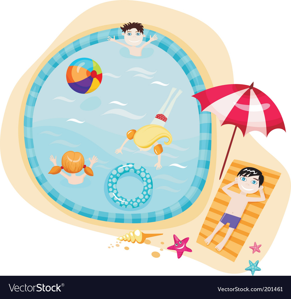 Kids Swimming Clipart. With rf stock her kids learn to swim fins swimming In a mom and kids colorful Kids+swimming+vector Featuring kids taking a swim stockdownload royalty free
